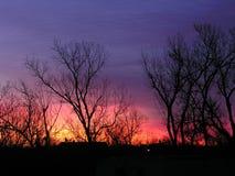 h farbuje wschód słońca Zdjęcie Stock