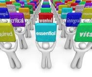 H för folk för arbetskraft för nödvändiga anställda för arbetare kritiska väsentligt Arkivfoto