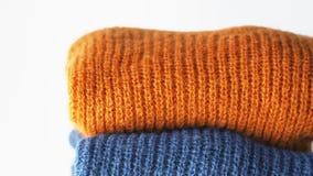 H?g av woolen tr?jor f?r f?rg lager videofilmer