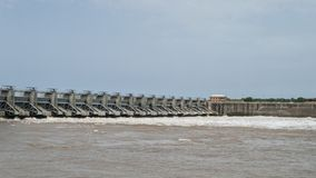 Robert S Kerr Lock and Dam releases high volumes of water