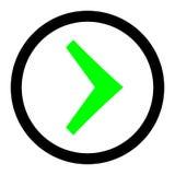 H?ger pil i cirkelvektorn linj?r illustrationvektorsymbol Linje med redigerbart slagl?ngdsymbol stock illustrationer
