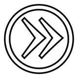 H?ger pil i cirkelvektorn linj?r illustrationvektorsymbol Linje med redigerbart slagl?ngdsymbol vektor illustrationer