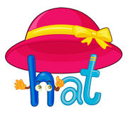 H for hat. Illustration of h for hat Royalty Free Stock Photo