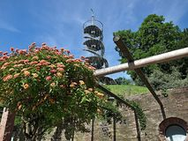 H?henpark bonito Killesberg em Estugarda em Alemanha foto de stock
