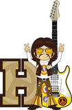 H is for Hippie Cartoon Character royalty free illustration