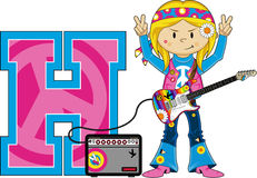H is for Hippie Stock Image