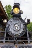 H K Porter Steam Engine bevindt zich op statische vertoning bij Erfenisdorp in Erfenispark in McDonough, GA royalty-vrije stock afbeelding