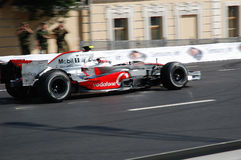 H. Kovalainen in Moscow 2009. McLaren team at Bavaria Moscow City Racing 2009 with H. Kovalainen Stock Image