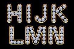 H - Las cartas de N incrusted con los diamantes. Foto de archivo libre de regalías