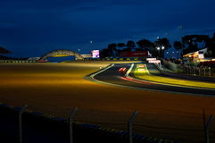24H LE MANS RACE 2016. 24H Le MANS RACE  for qualifying session 2016 15th june by night Royalty Free Stock Photo