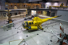 H-5 libélula - museu nacional da força aérea de Canadá fotos de stock royalty free