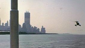 H?licopt?re de New York banque de vidéos
