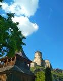 H?lzerne orthodoxe Kirche, Kamenets-Podolsky, Ukraine stockbild