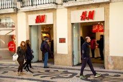 H&M κατάστημα Στοκ Εικόνες