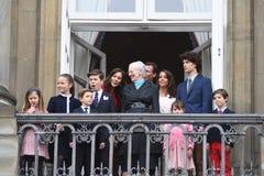 H M 女王/王后MAGRETHE庆祝78个YARS生日 图库摄影
