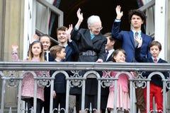 H M 女王/王后MAGRETHE庆祝78个YARS生日 库存照片