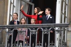 H M 女王/王后MAGRETHE庆祝78个YARS生日 免版税图库摄影