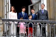 H M 女王/王后MAGRETHE庆祝78个YARS生日 免版税库存图片