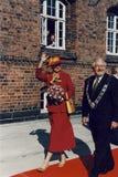 H M 女王/王后MARGRETHE和亨利VISISTS王子 库存照片