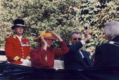 H M 女王/王后MARGRETHE和亨利VISISTS王子 免版税库存图片