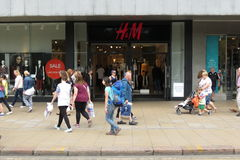 H&M brand store Stock Image
