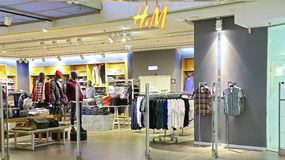 H&M clothing retail store Stock Images