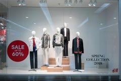 H&M de winkel bij Maniereiland, Bangkok, Thailand, brengt 22, 2018 in de war Royalty-vrije Stock Afbeeldingen