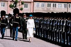 H M DIE KÖNIGIN MARGRETHE U. PRINZ HENRIK OF DÄNEMARK Stockfotos