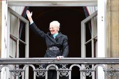 H M DROTTNINGEN MAGRETHE FIRAR FÖDELSEDAG FÖR 78 YARS Royaltyfri Foto