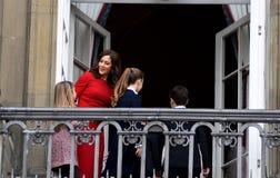 H M DROTTNINGEN MAGRETHE FIRAR FÖDELSEDAG FÖR 78 YARS Royaltyfri Bild