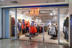 H&M fashion retail store front hm royalty free stock image