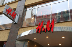 H&M Hennes & Mauritz AB store and logo Stock Photos