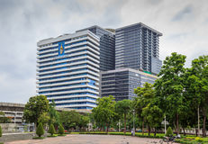 H M Koningin Sirikit Building in Chulalongkorn-het ziekenhuis stock foto