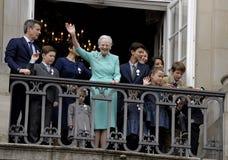 H M KRÓLOWA MARGTRHE II ŚWIĘTUJE 75 urodziny Zdjęcie Royalty Free