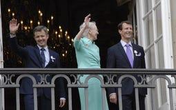 H M KRÓLOWA MARGTRHE II ŚWIĘTUJE 75 urodziny Zdjęcia Stock