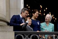 H M KRÓLOWA MARGTRHE II ŚWIĘTUJE 75 urodziny Fotografia Royalty Free