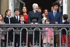 H M LA REINE MAGRETHE CÉLÈBRE L'ANNIVERSAIRE DE 78 YARS Photo libre de droits