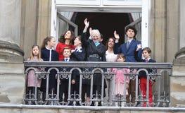 H M LA REINE MAGRETHE CÉLÈBRE L'ANNIVERSAIRE DE 78 YARS Photos stock