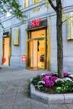 H&M Newbury Street, Boston, MOR Arkivbild