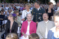 H.M.The QUEEM MARGRETHE AT OPENING NIGHT Royalty Free Stock Image