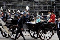 H M A RAINHA MARGTRHE II COMEMORA O ANIVERSÁRIO 75 Fotos de Stock Royalty Free