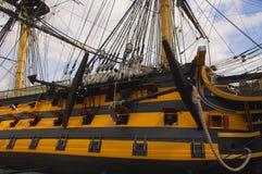 H M S zwycięstwa NELSON CHORĄGWIANY statek Zdjęcie Stock