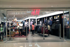 H and m shop in hong kong Stock Image