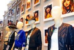 H & M Showcase Stock Foto