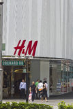 H&M store Orchard Road Singapore. Singapore, Oct 17 2011: H&M store in Orchard Road Singapore is one of the major fine clothing brands established in Royalty Free Stock Images