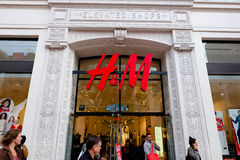 H&M Storefront Union Square San Francisco Royalty Free Stock Photo