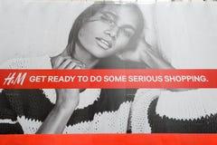 H&M sztandar w Hong Kong Zdjęcia Royalty Free