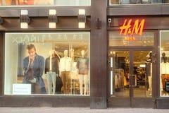 H&M winkel in Helsinki Stock Fotografie