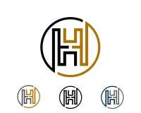 H, molde do vektor da letra imagem de stock royalty free
