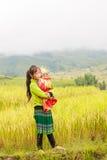 H ` mong 2016年10月16日的少数族裔孩子在Laocai,越南 库存图片